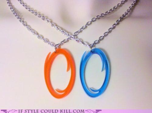 cool accessories friends necklaces Portal video games - 4791683072