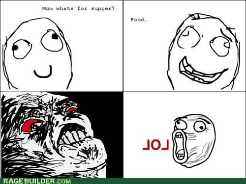 dinner,food,mom,Rage Comics,supper