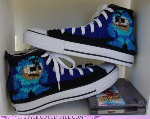 cool accessories custom sneakers mega man video games - 4791684096