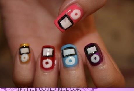 apple cool accessories ipod nail art nails - 4791722496