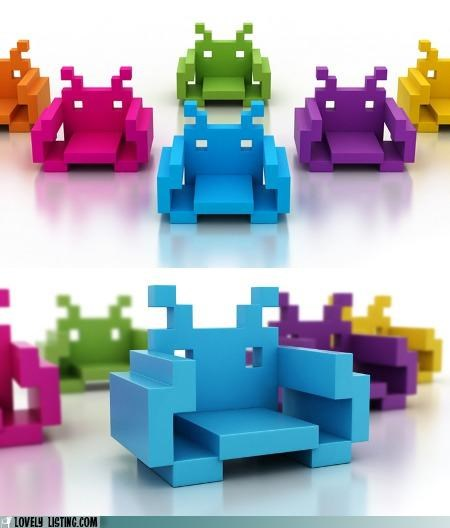 chairs,furniture,space invaders