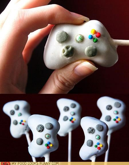 cake pops controller gamer gaming nerdy sweets video games xbox