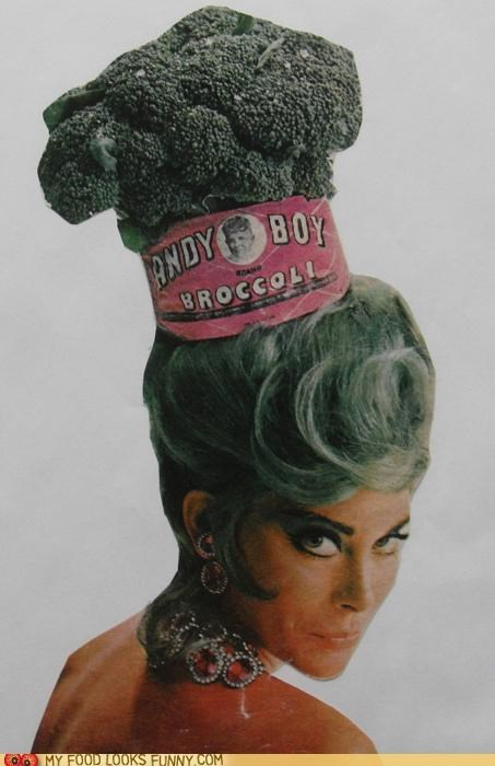 broccoli,green,hair,headpiece,retro