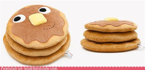 butter fabric face friend pancakes Plush - 4791861760