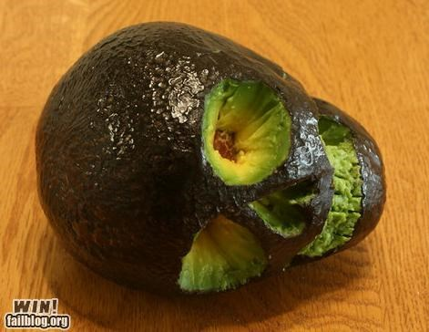avacado food produce skull - 4791898112