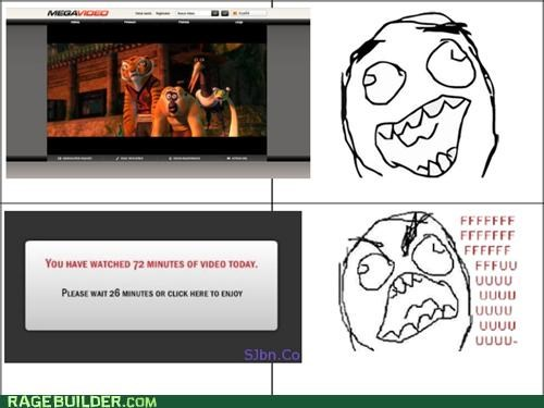 annoying,Megavideo,Rage Comics,streaming