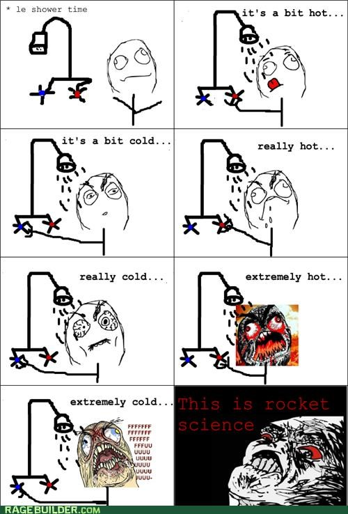 Portal Rage Comics rockets science shower triumph - 4791955712
