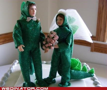 cake toppers funny wedding photos godzilla monster - 4792125440