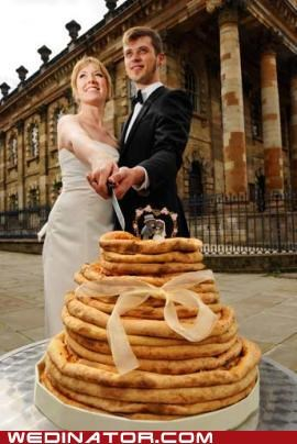 funny wedding photos Hall of Fame pizza wedding cake - 4792136960