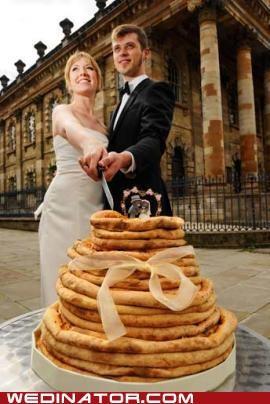 funny wedding photos Hall of Fame pizza wedding cake - 4792136960