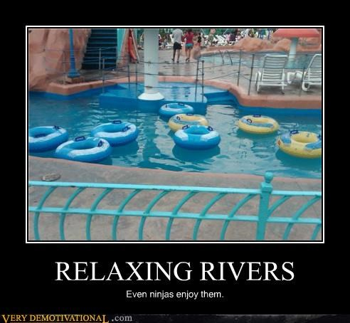 fun,hilarious,ninjas,river,water park