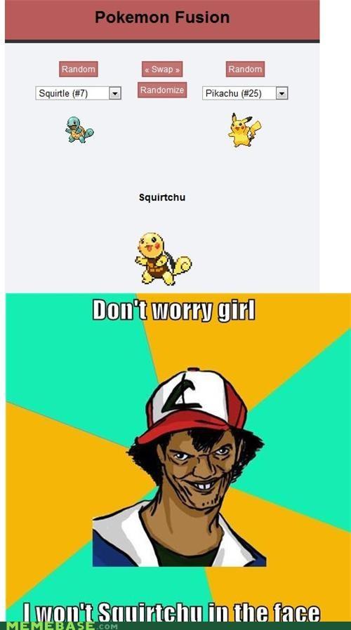 Dat Ash,fusion,mashup,Pokémemes,Pokémon,squirtchu