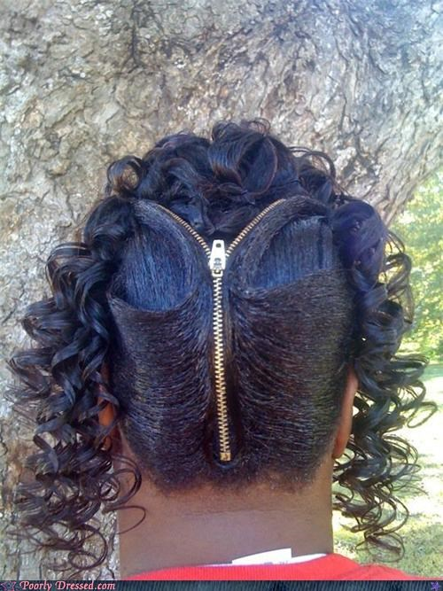 hair zipper zipper hair - 4792296192