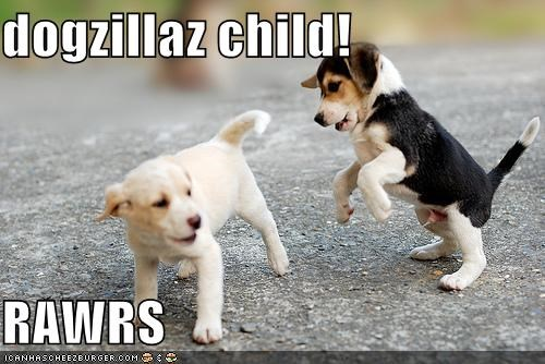 beagle beagles child dogzilla godzilla mixed breed puppies puppy rawr scary