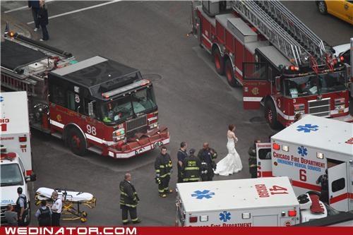 ambulance bride funny wedding photos - 4792576000