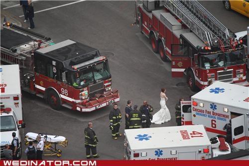 ambulance bride funny wedding photos - 4792576000