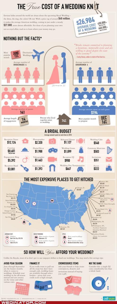funny wedding photos infographic wedding cost - 4792589824