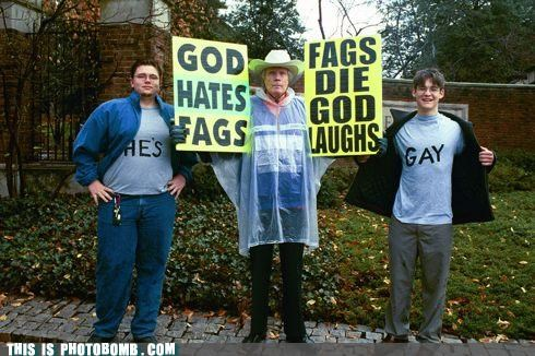 gay owned Protest Westboro Baptist Church winning - 4793190400