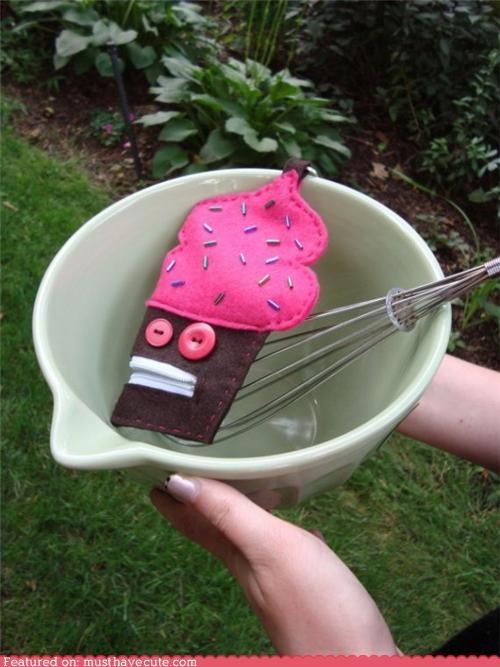 buttons cupcake felt monster mouth pouch sprinkles zipper - 4793251584