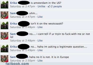 Amsterdam west coast geography dumb