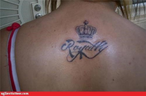 tattoos,crowns,funny