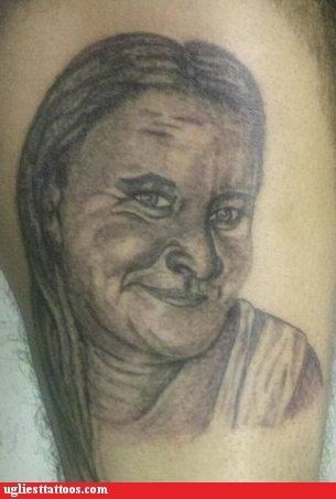 moms,tattoos,bad portrait,funny