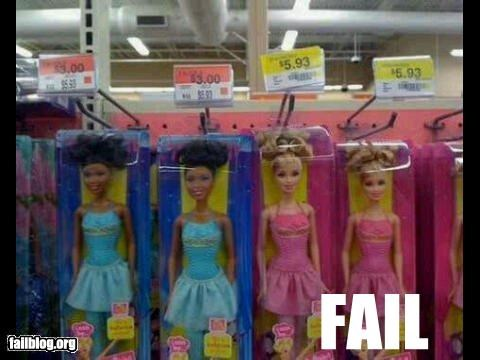 Barbie,classic,dolls,failboat,g rated,money,price,racist,toys