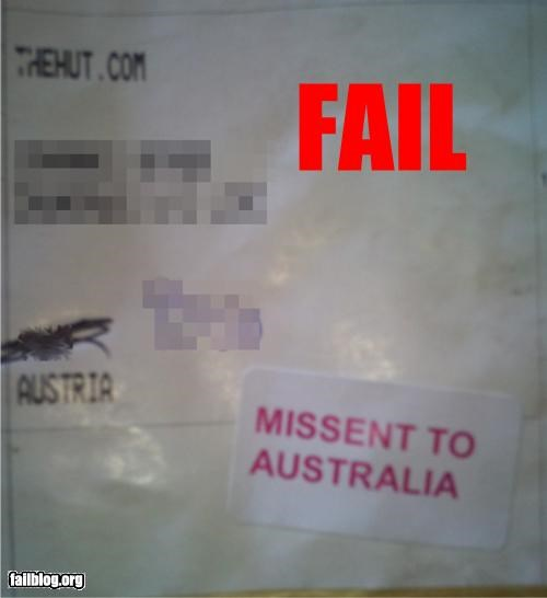 australia austria failboat geography g rated letter mail movie reference post office spelling spelling mistake - 4793900544