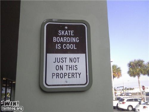 property,signm skateboarding