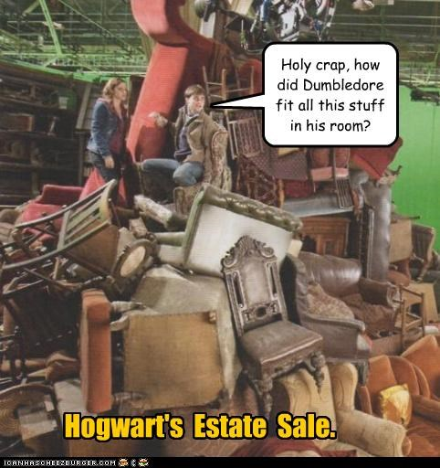 Hogwart's Estate Sale. Holy crap, how did Dumbledore fit all this stuff in his room?