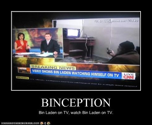 BINCEPTION Bin Laden on TV, watch Bin Laden on TV.