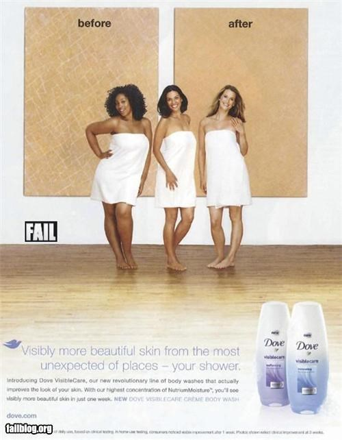 Ad advertisment dove failboat g rated hidden meaning racism racist soap - 4794415360