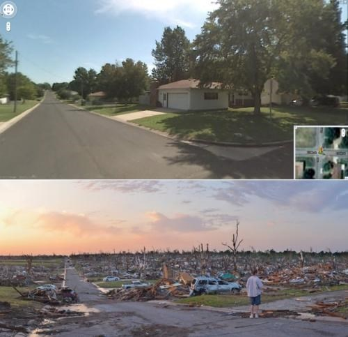Before And After,Joplin,Joplin Tornado
