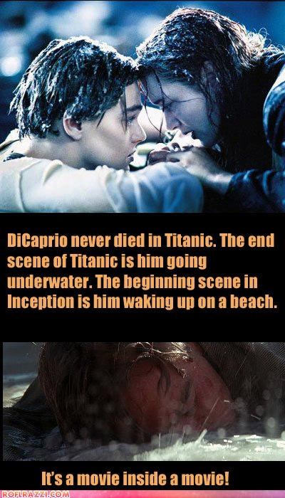 funny Hall of Fame Inception kate winslet leonardo dicaprio titanic - 4794641920