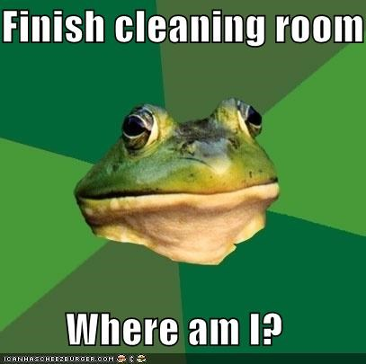 books,cleaning,foul bachelor frog,lost,lost horizon,room,shangri-la