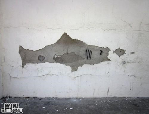 fish graffiti hacked neat sharks wall art - 4794776576