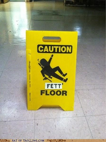 caution,IRL,star wars,wet floor