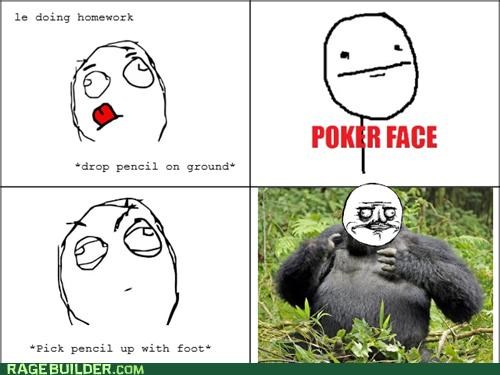 gorilla,pencil,Rage Comics,toes