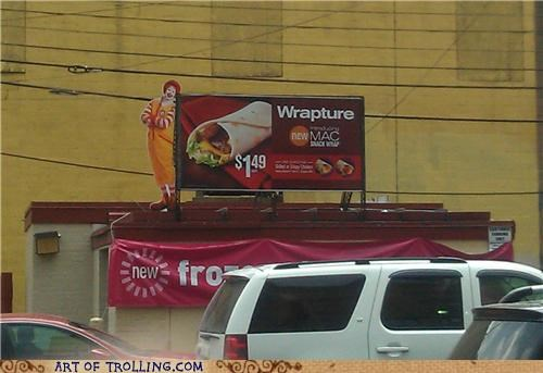IRL McDonald's RAPTURE wrapture