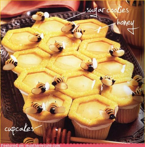 bees cookies cupcakes epicute honey - 4794985216