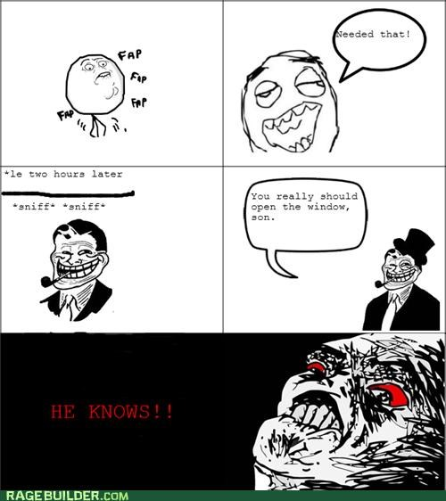 fap,gross,Rage Comics,smell,troll dad
