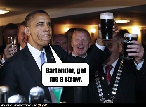 barack obama,beer,Ireland,political pictures