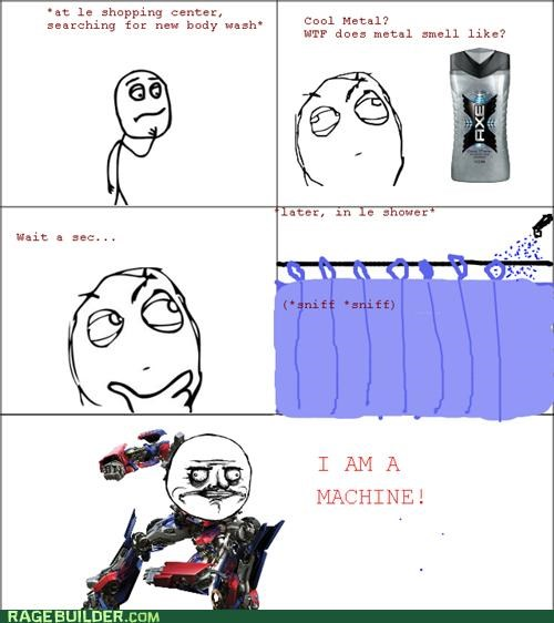 axe body wash machine Rage Comics - 4795309312