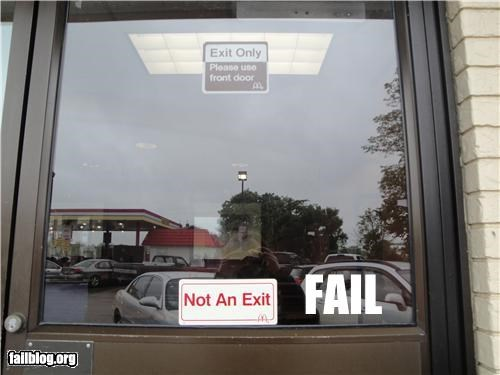 confusing,contradiction,failboat,fast food,irony,McDonald's,signs