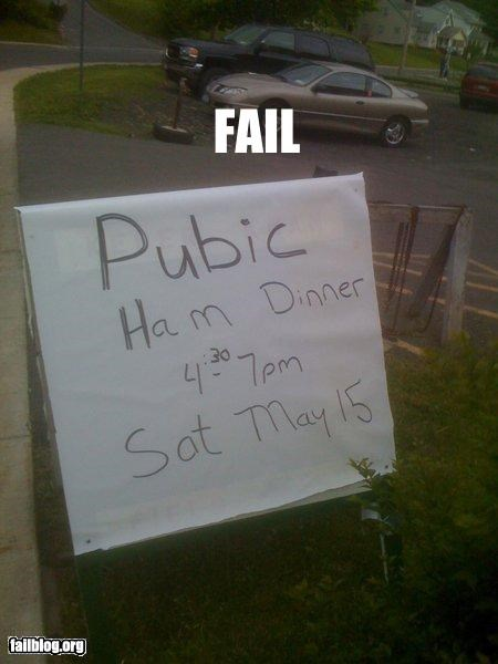 dinner failboat food missing letters pubic hair signs spelling spelling mistake - 4795334400