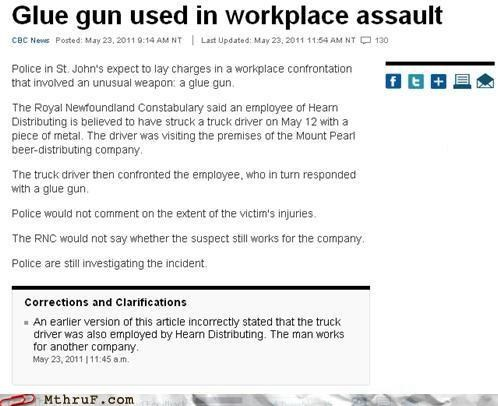 assault,glue gun,news