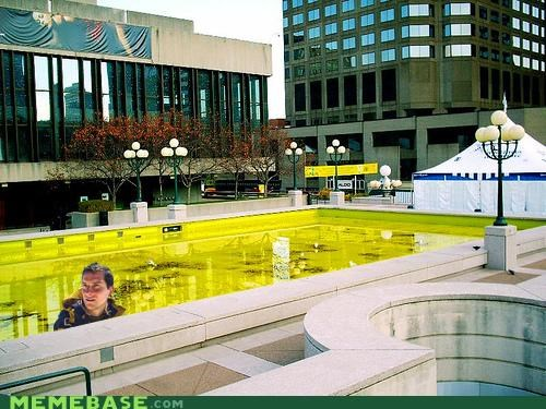 bear grylls,cities,pool,yellow