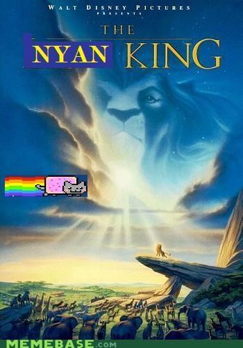 animemes cartoons disney lion king nyan Nyan Cat - 4795549696