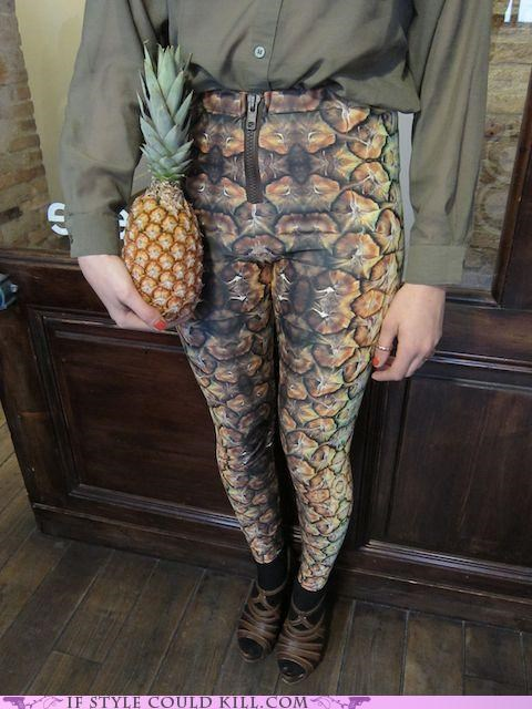 cool accessories fruit pants pineapple - 4795725056