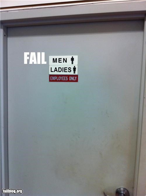 bathroom confusing contradiction employees only failboat g rated oddly specific signs work - 4795731456